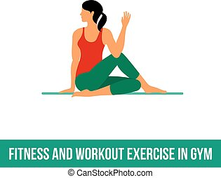Aerobic icons. full color 09 - Fitness, Aerobic and workout...