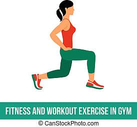 Aerobic icons. full color 24 - Fitness, Aerobic and workout...