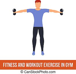 Aerobic icons. full color 36 - Fitness, Aerobic and workout...