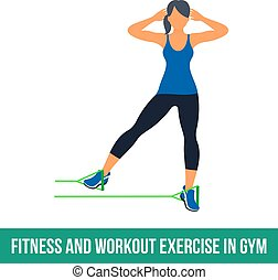 Aerobic icons. RESISTANCE BAND - Workout WITH RESISTANCE ...