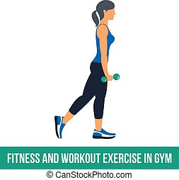 Aerobic icons. Workout - Fitness, Aerobic and workout...
