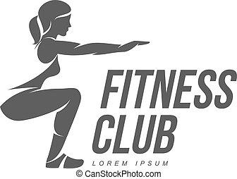 aerobic, logo, workout