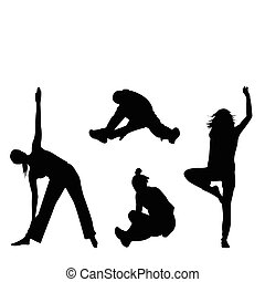 aerobic, silhouette