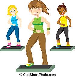 aerobic, stappen