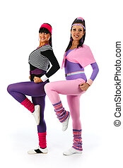 Aerobic - Two young girls  in aerobic dance