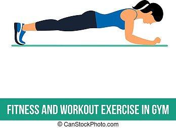 aerobic workout, icons.