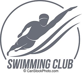 Aerobic workout logo - Swimming club logo templates. Fitness...