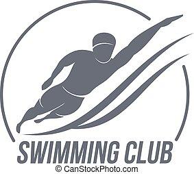 Aerobic workout logo - Swimming club logo templates....