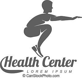 aerobico, logotipo, allenamento