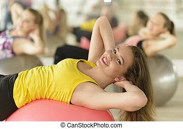 Aerobics at Gym