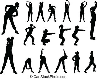 illustration of aerobics girl - vector
