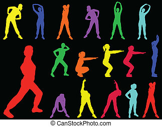 aerobics girl 5 - vector - illustration of aerobics girl -...