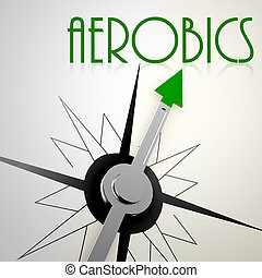Aerobics on green compass