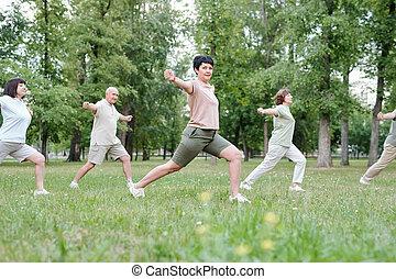 Aerobics outdoors
