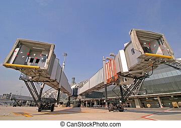 aerobridge at Suvarnabhumi airport,thailand
