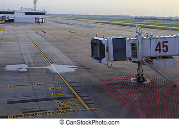 aerobridge in plane parked