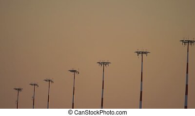 aerodrome aerodrome silhouette tower sunlight sunset -...