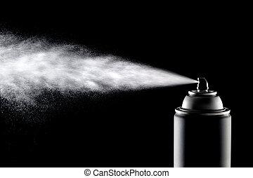 Aerolsol Spray Can - An aerosol can of spray dispensing its...
