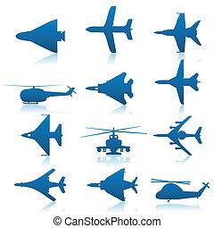 aeronave, ícones