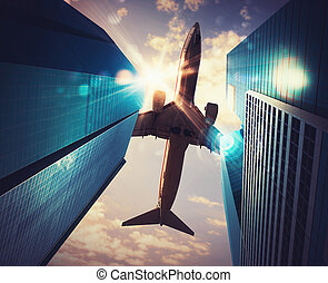 aeronave, cidade