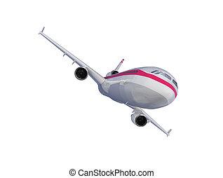 aeronave, isolado, vista