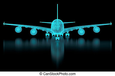 aeronave, malha, comercial
