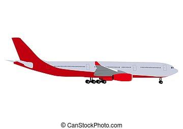 aeronave passageiro, fundo branco