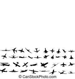 aeronave, silhuetas