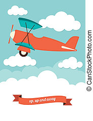 Aeroplane and Clouds