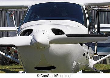 aeroplane - Close up of a single engine prop plane