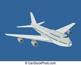 Aeroplane flying - Artwork on air transport