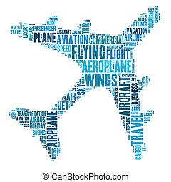 Aeroplane graphics - Aeroplane info-text graphics and...