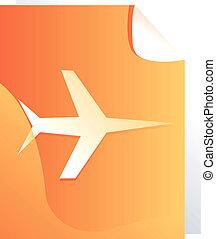 Aeroplane - Illustration of an aero plane on yellow board