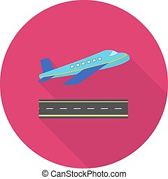 Aeroplane, plane, flight icon vectgor image. Can also be...
