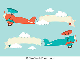 An illustration of aeroplanes
