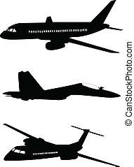 aeroplani, silhouette