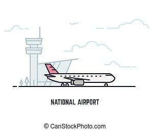 aeroplano, aeroporto