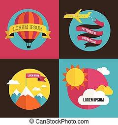 aeroplano, balloon, sfondi, sole, aria