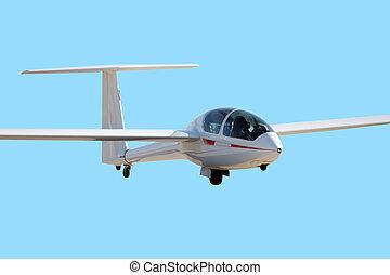aeroplano blu, cielo, chiaro