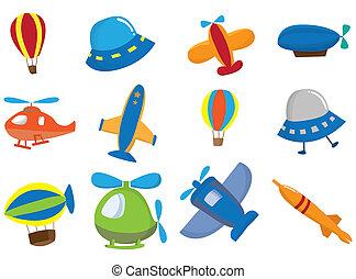 aeroplano, cartone animato