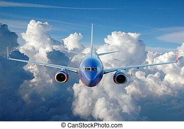 aeroplano commerciale, volo