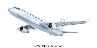 aeroplano, concetto, commerciale