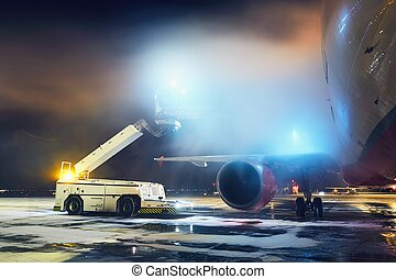 aeroplano, deicing