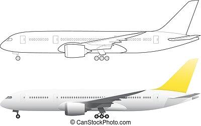 aeroplano, illustrazione