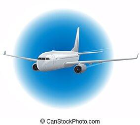 aeroplano, jet, passeggero