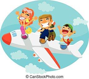 aeroplano, persone