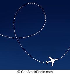aeroplano, tracciato