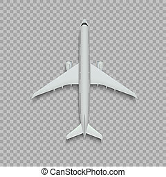 aeroplano., vista superiore