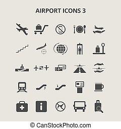 aeroporto, ícones