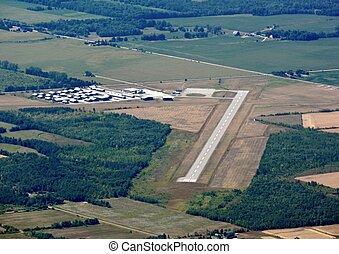 aeroporto, aereo, collingwood
